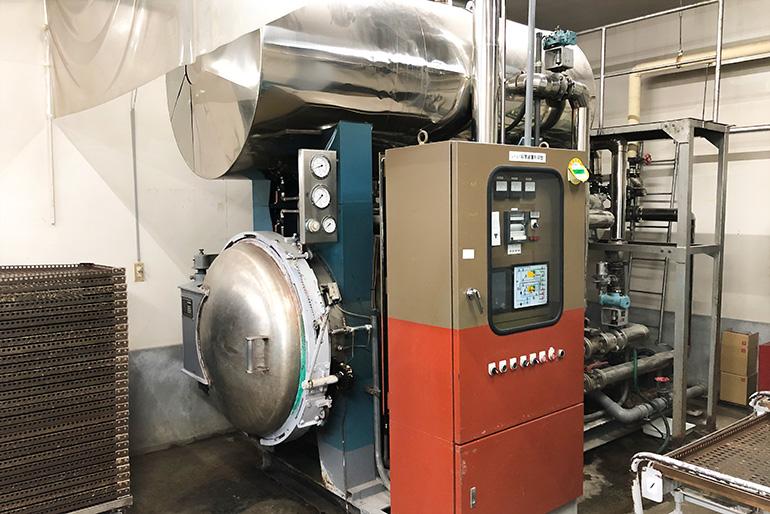 加圧熱水殺菌装置